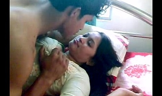 Indian Dealings Indian-Sex Team of two Make-out Kissing