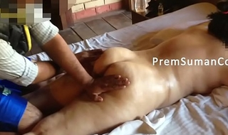 Desi spliced Suman possessions unembellished rub-down spouse filming [Part 2]