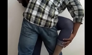 Office Intercourse - Horny Indian Shemale Slut Manusha exposing on livecam with a colleague