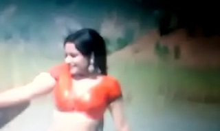 Bollywood age-old premier danseur Rekha hawt navel and boobs cum graft