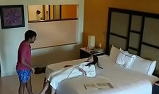 Hidden camera caught sex with girlfriend with hotel room